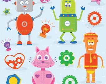 Robot clipart commercial use, vector graphics, digital clip art, digital images, CL0001