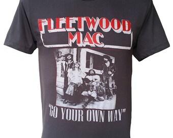 FLEETWOOD MAC Rock Black Tshirt Q-148