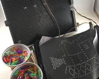 Lite Brite in the Box with Pegs Works! Comes with Black Sheets and Instructions 5455