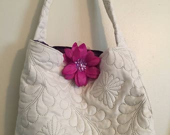 Quilted handbag ,purse,tote.