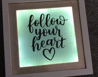 Follow Your Heart Light Box Frame