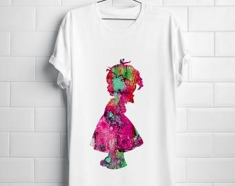 Little lady T-shirt Art Tee Fashion Apparel Shirt White