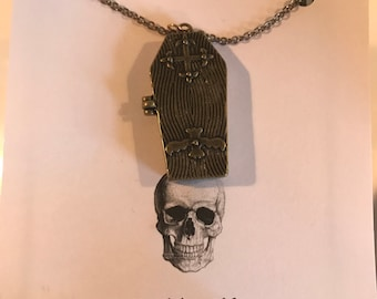 Skelton Coffin Necklace