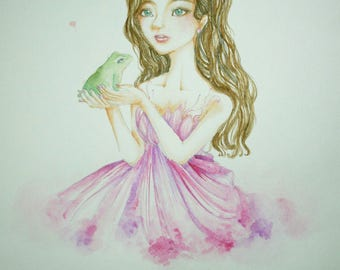 Fairy tale art ' The frog prince' by ChanaleenIllust