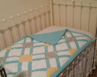 Vintage meets Modern baby quilt