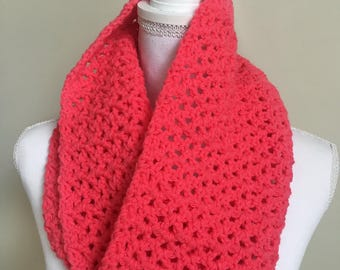 Hot Pink Lace Cowl/Infinity Scarf