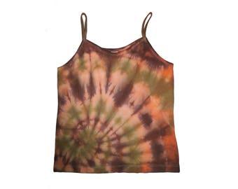 Autumn Spiral Cotton Tie-dye Medium Tank