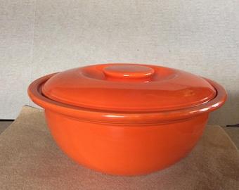Vintage Fiesta-Kitchen Kraft Casserole -Original Red Glaze