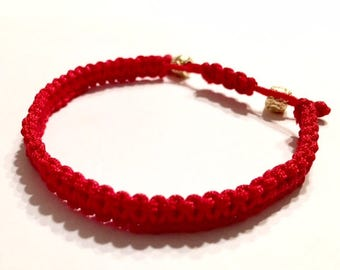 Red Adjustable Bracelet
