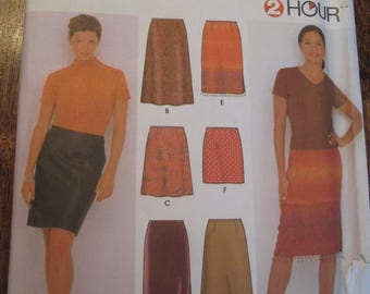 Skirt Pattern, Simplicity 9569, Sizes 16, 18, 20, 22.