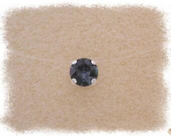 Necklace grey Graphite, Ras of the neck in wire Nylon & Strass Swarovski Crystal