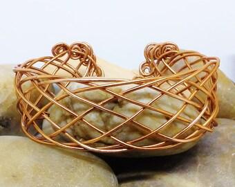 Bracelet - Viking Maiden Woven CopperCuff Bracelet