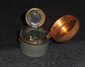 Victorian Traveling Inkwell C 1900