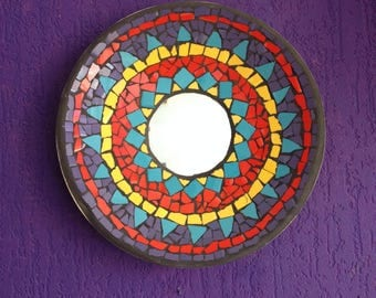 Mosaic mirror bowl