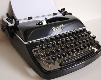 old typewriter Rheinmetall typewriter black