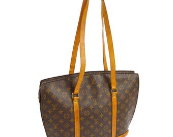 Louis Vuitton Vintage authentic babylon shoulder tote bag purse monogram leather brown m51102 yg00665