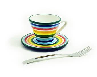 Rainbow cone coffee mug