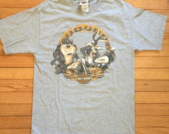 Grey Harley looney tunes tee