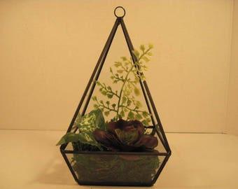 Faux Succulent Terrarium Sllk Floral Arrangement For Father's Day  FREE SHIPPING