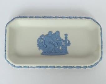Vintage Wedgwood Reverse Jasperware Trinket Tray