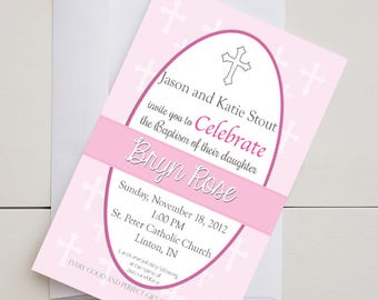 Baptism Invitation-Digital-Printable-5x7
