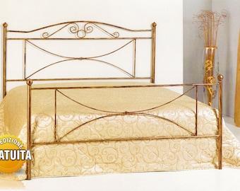 Handcrafted wrought iron bed Katya