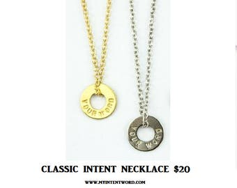 Classic MyINTENT Necklace in Gold or Silver