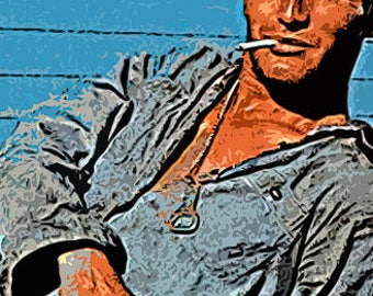 Paul Newman Cool Hand Luke Live Canvas Art Print