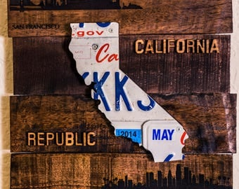 California licence plates art work
