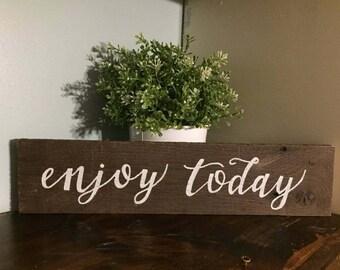 enjoy today wall decor