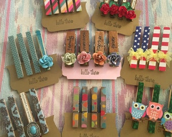 Memo clip clothespin magnets