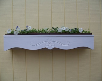 Cedar Window Box with Custom Design