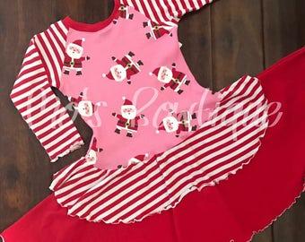santa christmas nancy dress size 5-6yrs