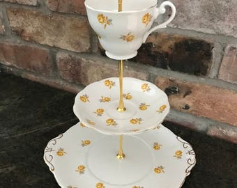 Vintage Hand Made Three Tier Tea Stand