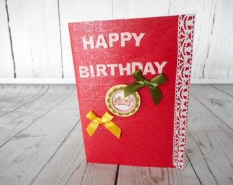 Birthday card {Female}  {Blank pop up}