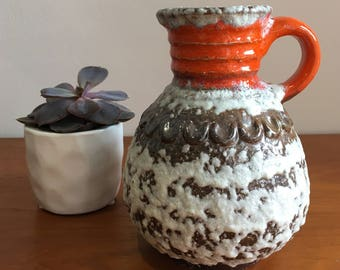 Retro West German Fat Lava Vase 1970s
