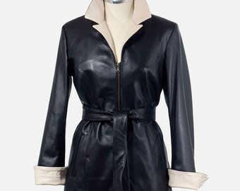 Real leather women's jacket in Italy
