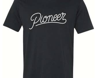 Pioneer T-shirt (custom artwork)