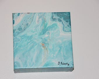 Blue Sky - Abstract Acrylic Pour Painting #3