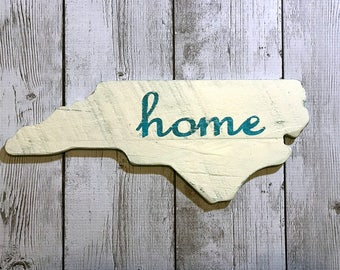 North Carolina wood sign - North Carolina Wall Art - North Carolina Shape Wall Art - North Carolina Home Decor - Wood State Decor