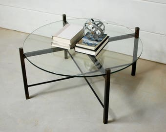 Round Glass Coffee Table, Coffee Table, Coffee Table Glass, Living Room Furniture, Modern Furniture, Glass Table Top, Side Table, Glass