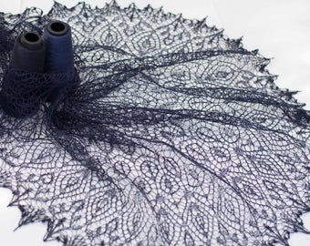 Knitted Lace Shawl Syuyumbike/Сююмбике Царица Казанская