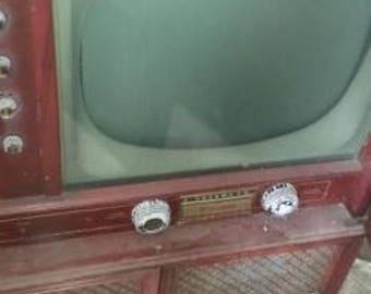 Vintage Floor Model TV