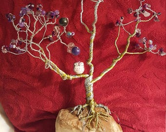 Hand made wire tree