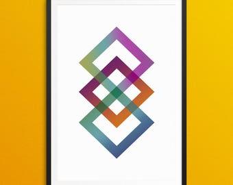 Infinity - Abstract Printable Wall Art -Printable - A3 - A4