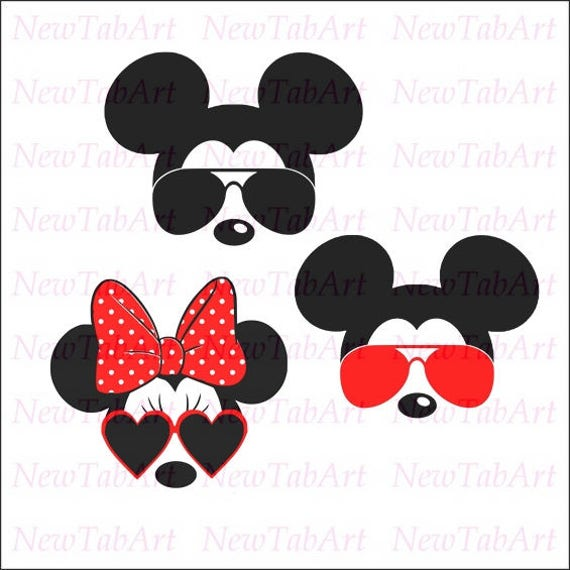 50 Shades Of Fabulous Svg: Mickey With Glasses Svg