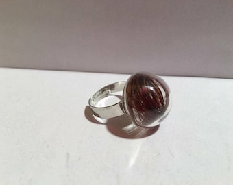 Ring with customizable horsehair