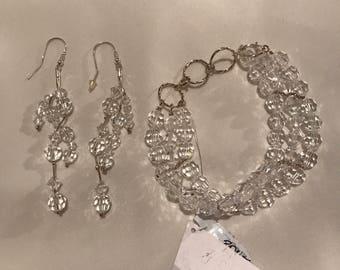 Bridal Jewelry Set Swarovski elements and silver 925