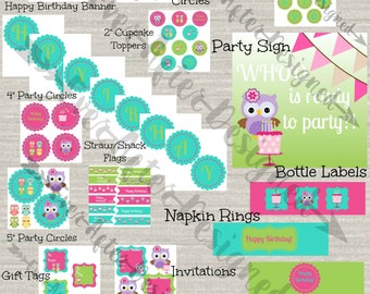 Owl Party Decorations ~ Printable Party Decorations