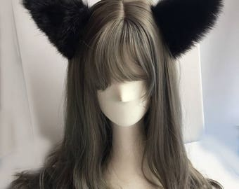 Cute Lovely Cosplay Cat Ears Black Colour
